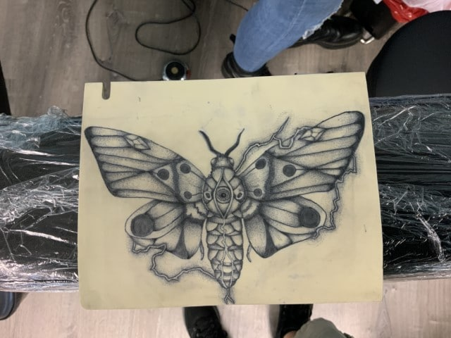 butterfly tattoo practice