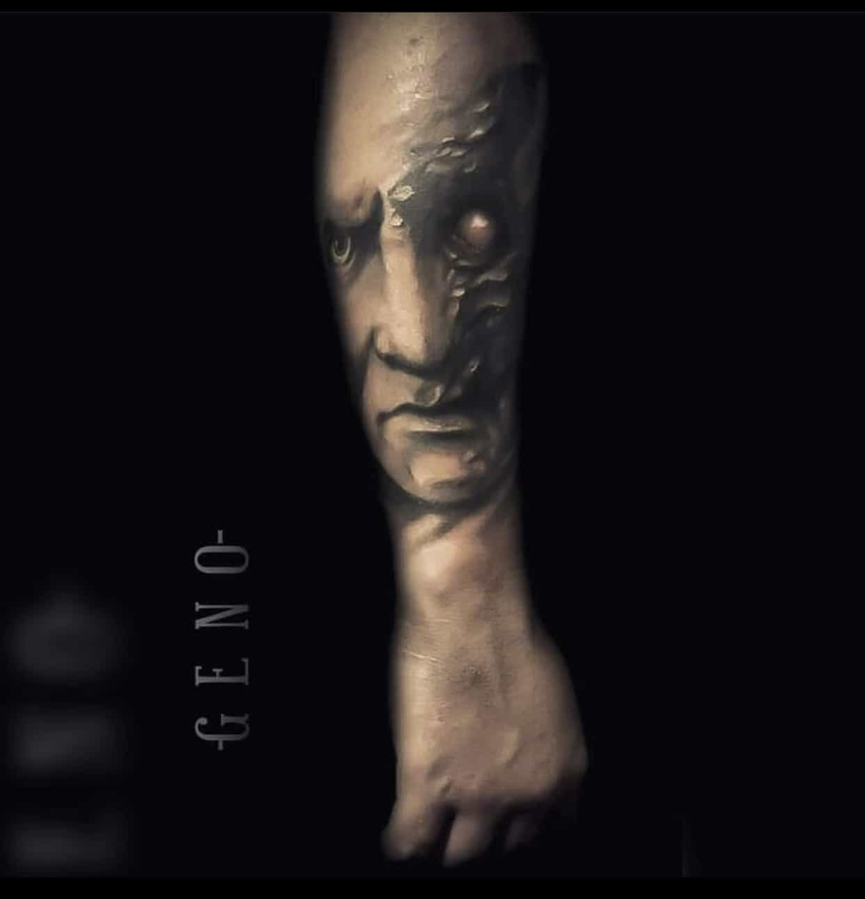 batman two face tattoo