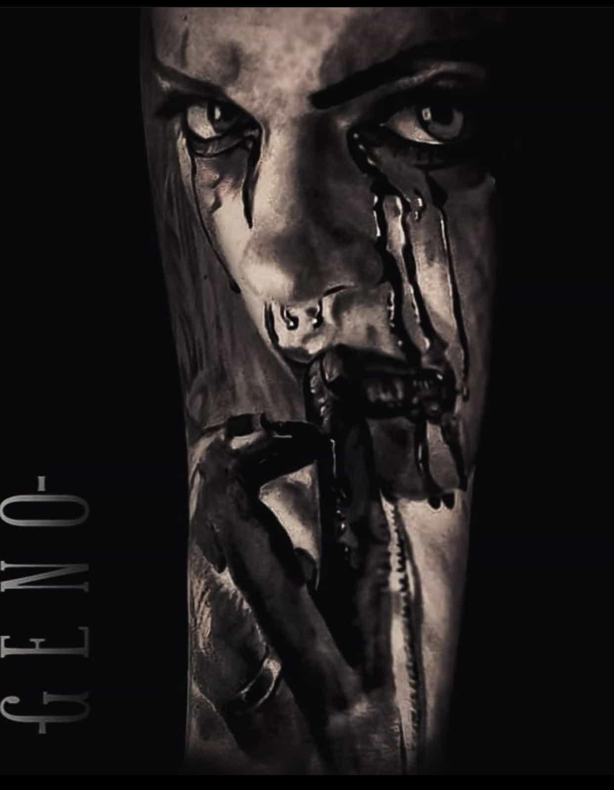 evil woman tattoo