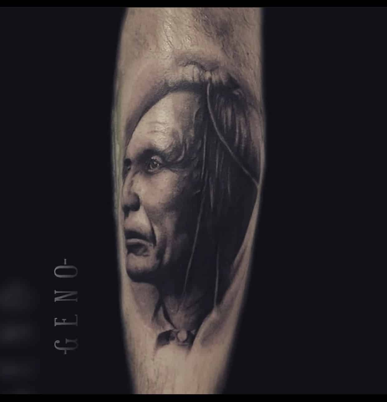 Indian tribe leader tattoo